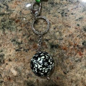 Vera Bradley Night & Day Have A Ball Keychain NWT